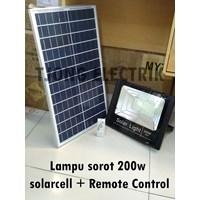 Lampu sorot 200w solarcell