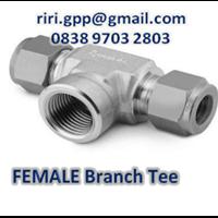 Female Branch Tee Od X Npt Swagelok 1