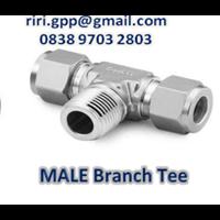 Male Branch Tee Od X Npt Swagelok 1