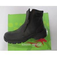 Jual SEPATU SAFTY STEEL HORSE SH-9388 ZIPPER SIDED ANKLE BOOT