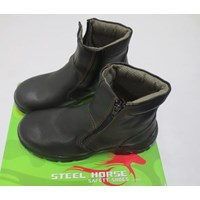 Jual SEPATU SAFETY STEEL HORSE SH-9388 ZIPPER SIDED ANKLE BOOT 2