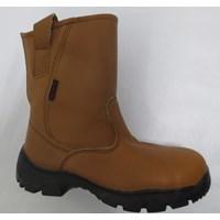 SEPATU SAFETY STEEL HORSE SH-9599 BROWN Slip On Boot 1
