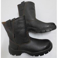 SEPATU SAFETY STEEL HORSE SH-9599 BLACK Slip On Boot
