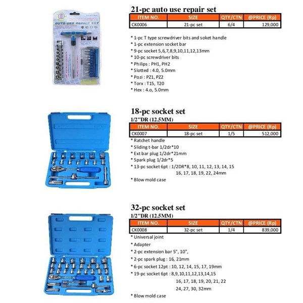 AUTO REPAIR SET 21 PCS