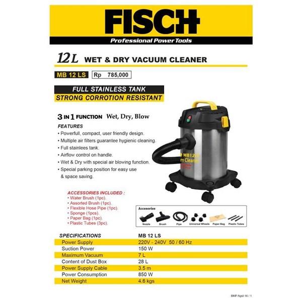 Wet & dry vacum cleaner fisch