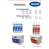 Kimia industri morris sealants acetic and neutral silicone sealants