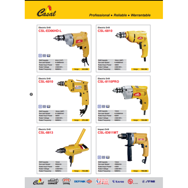 Drill rod merek casal model electric csl
