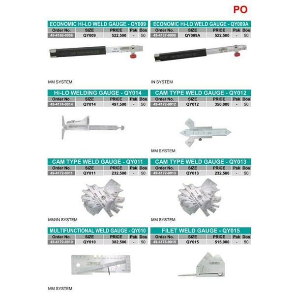 potongan besi dan logam CAM WELD GAUGE TYPE-QY011
