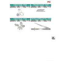 Jual potongan besi dan logam 2 piece gauge type-QY039