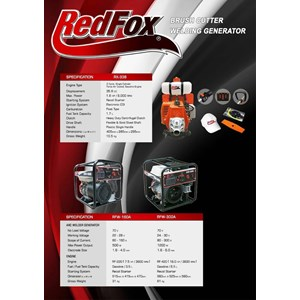 Dari mesin dan perlengkapan las welding generator redfox 160A 0