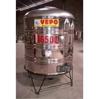 Tandon Air Vepo Stainless Steel 1500 Liter atau 1650 Liter