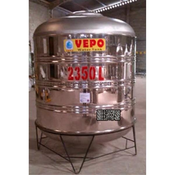 Tandon Air Vepo Stainless Steel 2000 Liter atau 2350 Liter