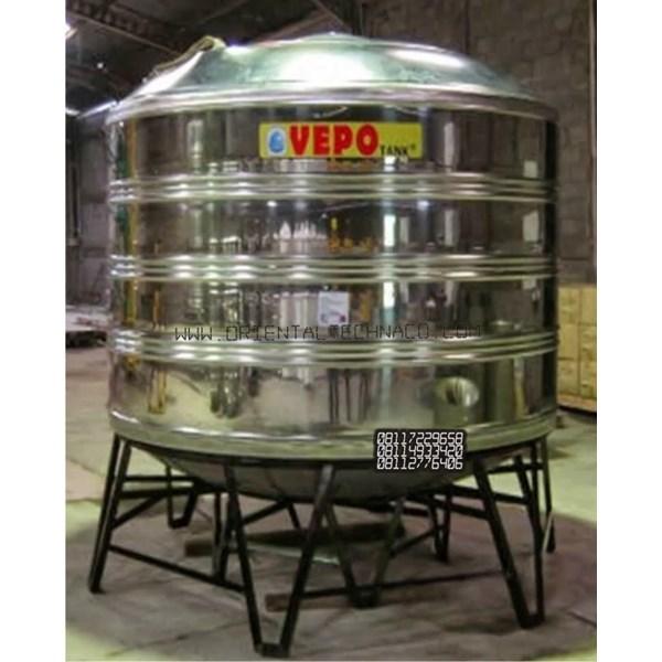 Tandon Air Vepo Stainless Steel 5000 Liter atau 5300 Liter