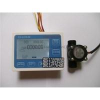 Dari Water Flow Control LCD Display Flow Sensor Solenoid valve  Power 3
