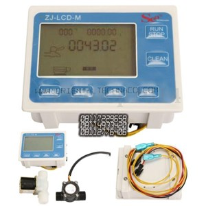 Water Flow Control LCD Display Flow Sensor Solenoid valve  Power