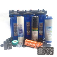 Standard 3 housing water filter package