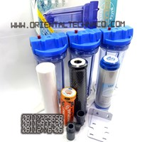 Paket Filter Air 3Tahap Housing Clear 10