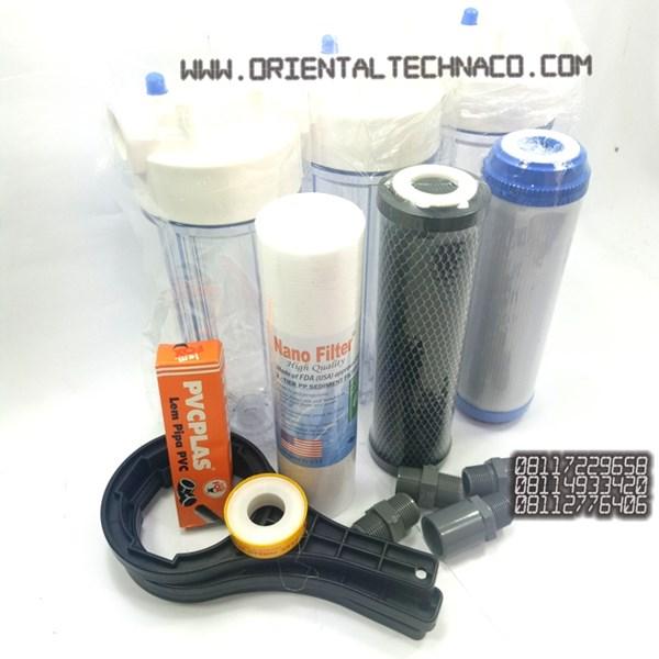Turbid Water Filter Package Smelling 10-inch Nanotec Housing