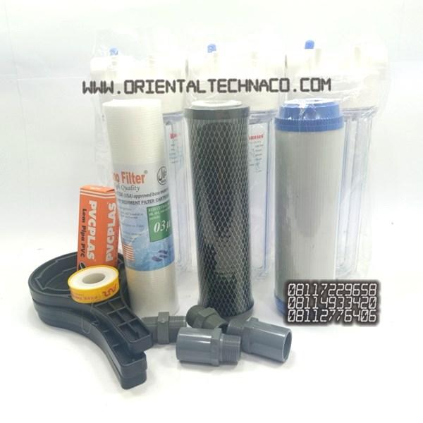Paket Saringan Air keruh Berbau Housing Nanotec 10 inchi