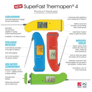Dari Thermapen 4 Thermometer With 360 Rotating Display 0