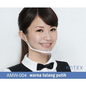 Masker Plastik Transparan Antex Putih
