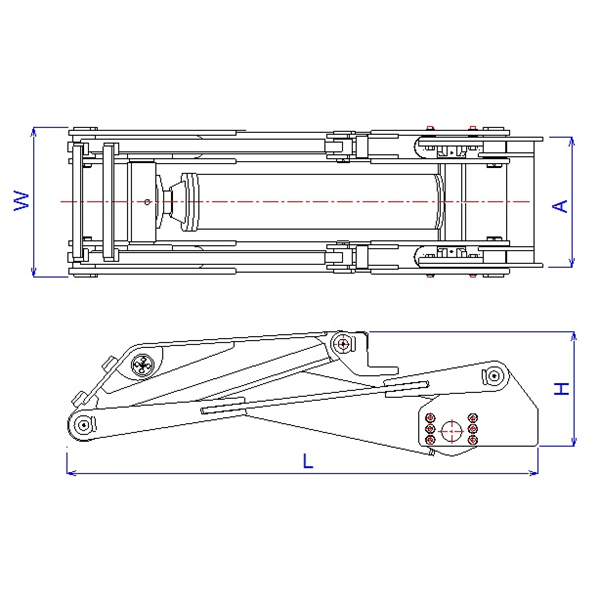 Dump Hoist Hydraulic Cylinder & Mekanism
