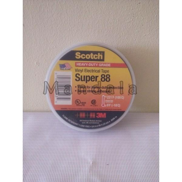 """3M Scotch Super88 Vinyl Electrical tape 3/4"""" X 66ft X  .0085  In"""