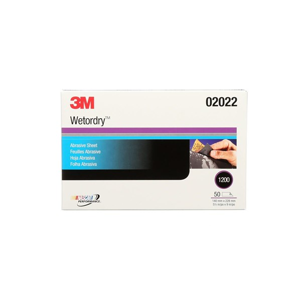 3M™ Wetordry™ Abrasive Sheet 401Q 02022 P1200  A-weight 5 1/2 in x 9 in (13.97 cm x 22.86 cm)