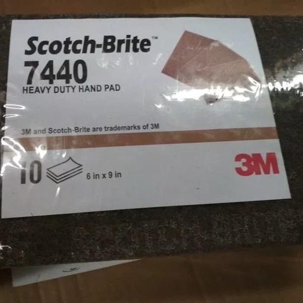 7440 Scotch-Brite™ Heavy Duty Hand Pad 6 in x 9 in