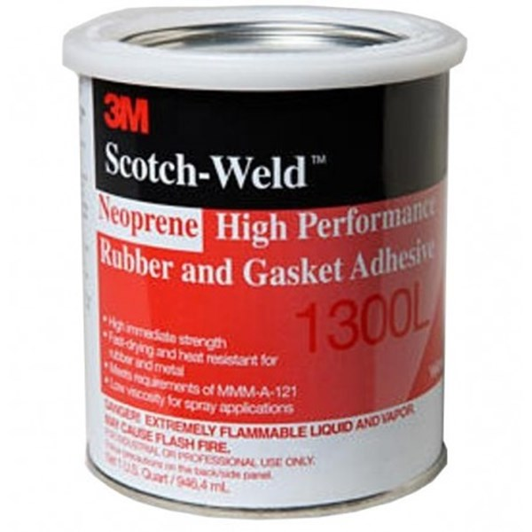 3M™ Scotch-Weld™ 1300L Neoprene High Performance Rubber and Gasket Adhesive - Yellow