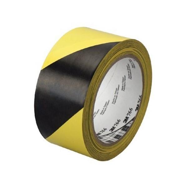 "3M Hazard Warning Tape 766 Black/Yellow 2""X36 Yd"