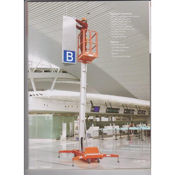 Tangga Aluminium Elektrik tangga hidrolik 12 Meter