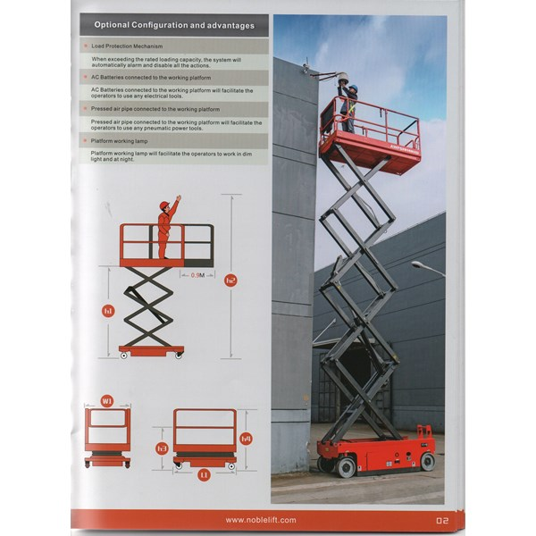 Scissor lift 12 meter noblift