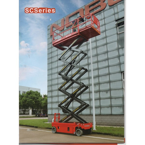 Scissor lift tangga aluminium elektrik 12 meter herawan Denko  termurah harga istimewa 2019