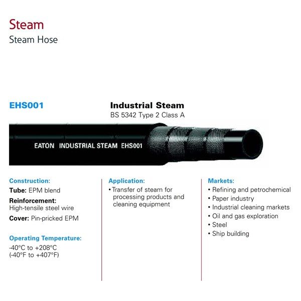 Industrial Hose Eaton EHS001 Steam Hose
