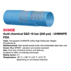 Selang Industri ALFAGOMMA T509 OE Acid and Chemical SD UHMWPE 1