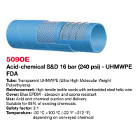 Selang Industri ALFAGOMMA T509 OE Acid and Chemical SD UHMWPE