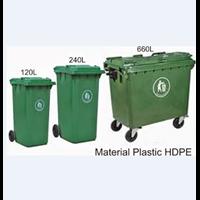 Tempat Sampah Plastik Roda 660 Liter 1