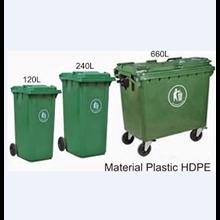 Tempat Sampah Plastik Roda 660 Liter