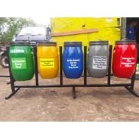 Jual Tempat Sampah Drum Plastik 5 Pilah 60 Liter