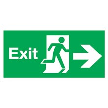 Lampu Emergency EXIT Semi Surface Double Exit Sign White VES 335/STS