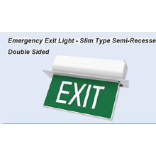 Lampu Emergency EXIT SEMI RECESSED DOUBLE EXIT SIGN - ES 335/STSR