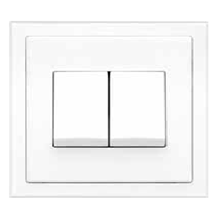 Saklar Rania  Accessories Dual Switch 2-Way 2 x 10A matching frame in AW
