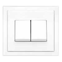 Jual Saklar Rania Accessories Dual momentary switch 10A. matching frame. in AW