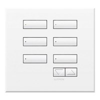 Switch International Seetouch Qs Wallstations 6-Button With Raise-Lower. In Bb. Bc. Bn. Sb Or Sc Sn.