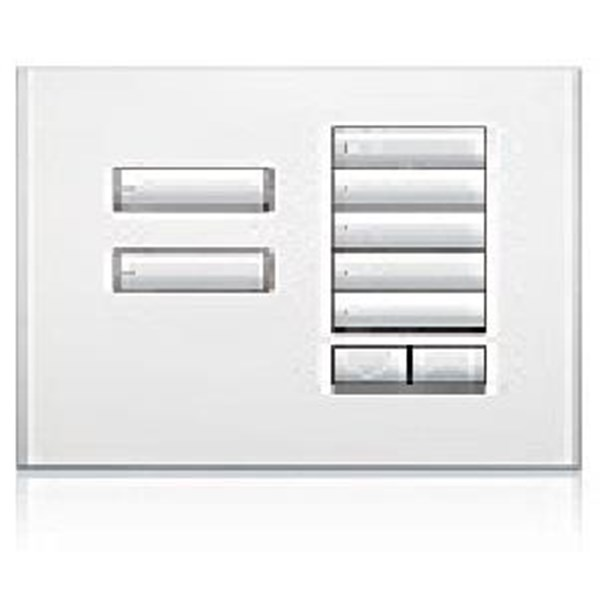 Saklar International Seetouch QS Wallstations 7-button with raise-lower. in BB. BC. BN. SB. SC or SN