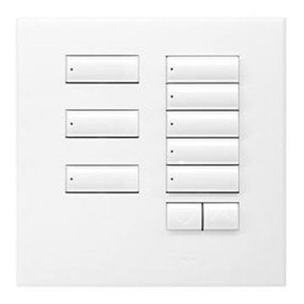 Saklar International Seetouch Qs Wallstations 8-Button With Raise-Lower. In Ar. Aw. Or Mc