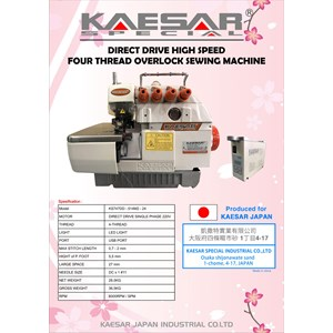 DIRECT DRIVE HIGH SPEED OVERLOCK FOUR THREAD SEWING MACHINE