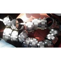 pipe dan perlengkapan nya.coupling  cast iron. 1