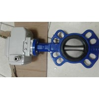 Butterfly Valve With Peneumatic Double Acting